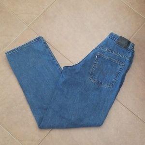 VTG Levi's Silvertab Student Blue Jeans XLong